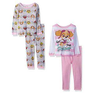 NWT Nickelodeon Paw Patrol 4-pc Cotton Pajama Set
